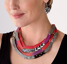 Quad Crescent Necklace by Louise Fischer Cozzi (Polymer Clay Necklace)