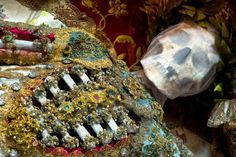 """Skeletons discovered in the Roman Catacombs in the late 16th century, thought to be the remains of early Christian martyrs, were adorned with precious jewels and metals and used as holy relics. (Photo by Dr. Paul Koudounaris, from his book """"Heavenly Bodies""""/Morbid Anatomy)"""