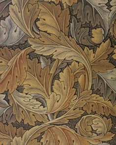 'Acanthus' wallpaper design by William Morris, produced by Morris & Co in 1875