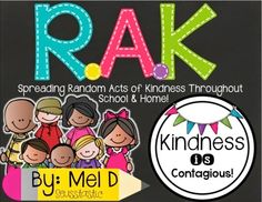 February is Random Act of Kindness month. This RAK PACK is ideal to spread RAK's throughout your school!