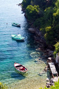 Colorful boats. Kioni Village, Ithaca, Ionian, Greek Islands. c..