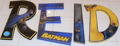 Batman Personalized Letter Set  Customizable by MyAngioletto, $70.00