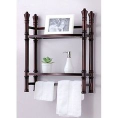 Best Living Monaco Wall Bathroom Shelves Mount/Countertop Etagere Shelf, Oil