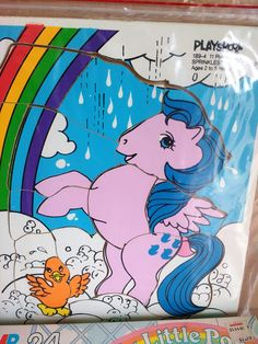 Vintage My Little Pony 1984 Playskool Wooden Tray Puzzle Hard to Find 1980s by suburbantreasure on Etsy
