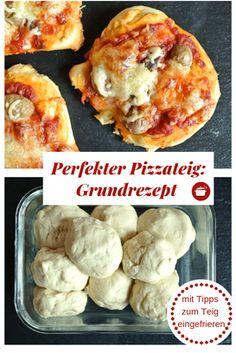 Grundrezept Pizzateig - auch für Thermomix #thermomixrezepte