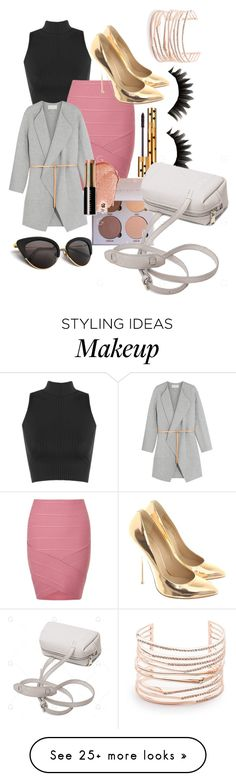 """Power look in fashion"" by roseysky24 on Polyvore featuring WearAll, Yves Saint Laurent, Miss Selfridge, Vanessa Bruno, Giuseppe Zanotti, Bobbi Brown Cosmetics and Alexis Bittar"