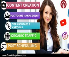Find a freelance social media manager for hire and ensure your brand is active & engaged on social media Social Media Marketing Manager, It Works Marketing, Marketing Goals, Marketing Ideas, Business Marketing, Social Media Quotes, Social Media Pages, Social Media Tips, Design Social