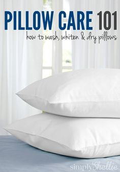 A Natural Laundry Boost- how to wash pillows- Martha Stewart Deep Cleaning Tips, House Cleaning Tips, Diy Cleaning Products, Cleaning Solutions, Spring Cleaning, Cleaning Hacks, Wash Pillows, Bed Pillows, Laundry Hacks