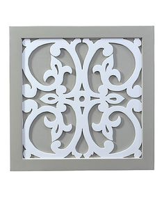 Another great find on #zulily! White Wood Scrollwork Wall Décor #zulilyfinds