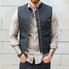 Tough Duck Quilted Lined Vest - $69 - Wear it with the Vanson Stormer Waxed Canvas Jacket ($549) - Town Moto Shop