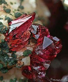 Extraordinary! Roselite from Morocco. Collection: Tamás Németh.Credit: Stone Ásványfotós  Geology Wonders