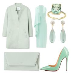 """""""Untitled #40"""" by ccrc on Polyvore featuring MANGO, Christian Louboutin, Cushnie Et Ochs, Effy Jewelry and Alexis Bittar"""