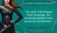 First acowar quote! This is not a drill!