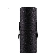 DZT1968 Leather Cosmetic Case Portable Storage Makeup Bags Organizer Brush Holder Cup Black -- Continue to the product at the image link.