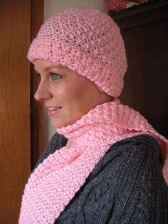 Soft Seed Stitch Scarf and Hat Set