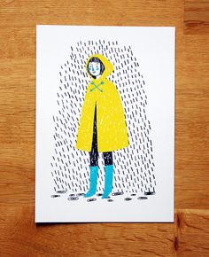 Cape Girl - screen-print by Jen Collins on Etsy