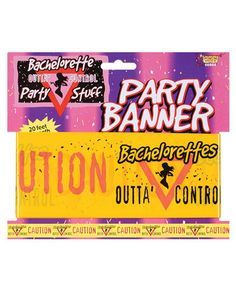 16 FT 5 METRE WARNING HEN PARTY TAPE BANNER GIRLS NIGHT OUT PARTY DECORATION