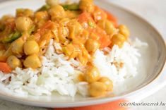 Csicseriborsó Curry Kókuszos Rizzsel