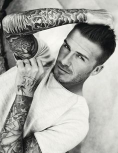 Ummm who doesn't love David Beckham and his tattoos? Enough said.