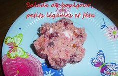[Fred] Maintenant que le soleil est enfin là, il est de temps de refaire des petites salades délicieuses et rafraîchissantes! :p  http://kazcook.com/blog/archives/738-Salade-de-boulgour,-petits-legumes-et-feta.html