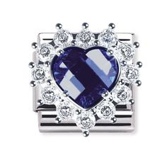 ROYAL Composable in stainless steel, 925 silver and FACETED CZ (HEART)