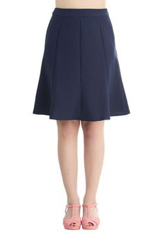 No Time Like the Presentable Skirt in Navy