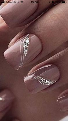 Untitled Untitled - Untitled Untitled Best Picture For Wedding Nails red For Your Tas Fancy Nails, Pink Nails, Cute Nails, Diy Nagellack, Nagellack Trends, Nail Manicure, Manicures, Gel Nails, Nail Polish