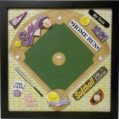 Softball is Life Scrapbook Page Frame Sold by theshadowbox on Etsy, $18.00