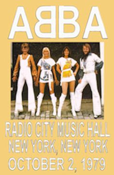 """ABBA Concert 1979 New York City Poster  • 100% Mint unused condition • Well discounted price + we combine shipping • Click on image for awesome view • Poster is 12"""" x 18"""" • Semi-Gloss Finish • Great Music Collectible - superb copy of original • Usually ships within 72 hours or less with > tracking. • Satisfaction guaranteed or your money back. Sportsworldwest.com"""