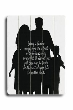 Love the idea of a family profile silhouette as a quote background