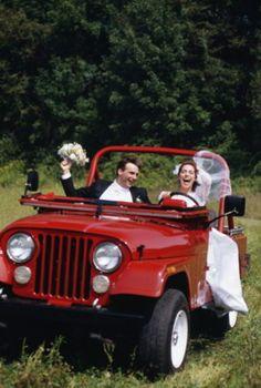 Love the bride having fun in a classic #Jeep CJ - #Manassas - Lindsay Manassas Chrysler Dodge Jeep Ram