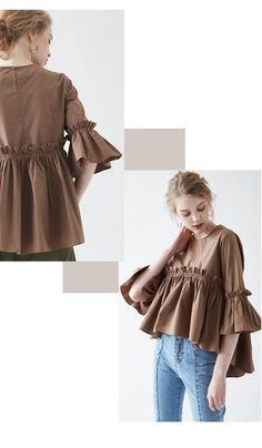 Discover the most up-to-date females' blouses, perfect for your next event or situation. Hijab Fashion, Korean Fashion, Boho Fashion, Fashion Dresses, Fashion Design, Simple Dresses, Nice Dresses, Casual Dresses, African Wear