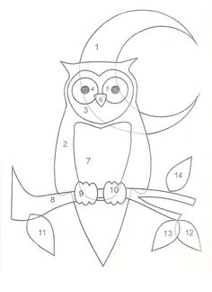 Fabulous for a Quilt Applique! Owl Templates, Applique Templates, Applique Patterns, Applique Designs, Quilt Patterns, Owl Quilt Pattern, Owl Applique, Applique Quilts, Owl Quilts
