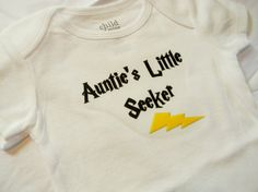 Auntie's Little Seeker Bodysuit. Harry Potter Inspired. Can Be Customized By Size. Brilliant!