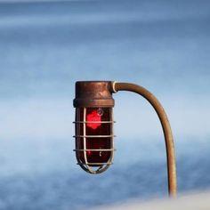 Pier light on Seneca Lake, Watkins Glen, NY