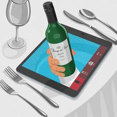 #JohnHolcroft #illustration #dinner #reservations #diningout #digitalillustration #lindgrensmith