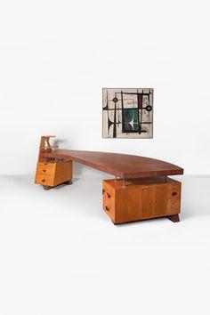 Lot : Renaat Braem (attribué à) - Important bureau de forme libre ouvrant.   In the sale Art et Design Belge at Cornette de Saint Cyr Bruxel... 15.ooo-20.000 mei2014