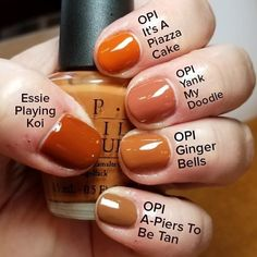 Discover the 10 most popular nail polish colors of all time! - My Nails Opi Gel Polish, Orange Nail Polish, Gel Polish Colors, Fall Nail Colors, Orange Nails, Fall Nail Polish, Fall Gel Nails, Autumn Nails, Winter Nails