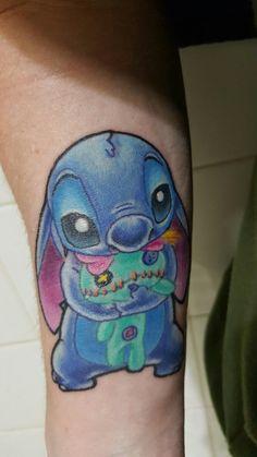 Stitch and scrump tattoo