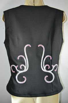 Back detail on a custom western pleasure vest with square neckline - Made by KLS Designs Show Clothing - check us out on Facebook!!