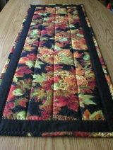"""Handmade Quilted Table Runner, Fall Harvest Thanksgiving Theme, About 12""""x36"""" (Runner2077-31-40)"""