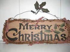 "Country Prim ""Merry Christmas "" Sign Wall Decor | eBay"