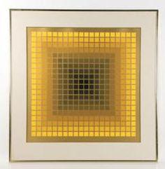 "VASARELY, ""MEXICO CITY"", PRINT 20th C. Modern Design and Fine Art Auction | Kaminski Auctions"