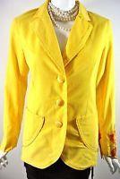 YANTHA By Nataya SUN Yellow corduroy Womens Jacket M Hippie Boho Chic 3 Button