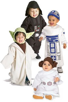 This is so happening with my future children!! I love the baby Princess Leia costume