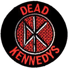 Dead Kennedys Patch - Round Embroidered Patch *All Embroidered patches can either be sewn or ironed on
