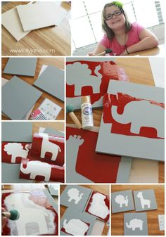 How to create nursery animal wall art!