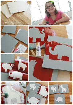 How to create nursery animal wall art!