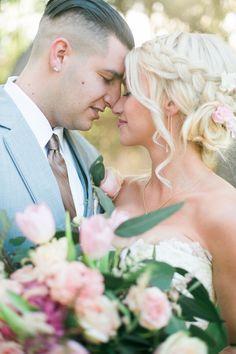 Bride and groom hairstyle goals! | Emi Fujii Photography | Weddings by Katlin | Bridal Musings Wedding Blog