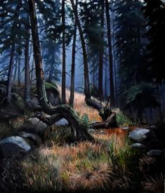 View: The misty morning in Taiga | Artfinder